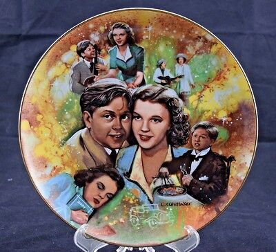"The Golden Age of Cinema ""Judy and Mickey"" MGM Collectors Plate Limited L40"