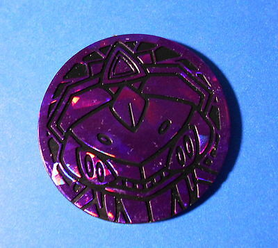 Pokemon TCG collectible coin: large purple Genesect
