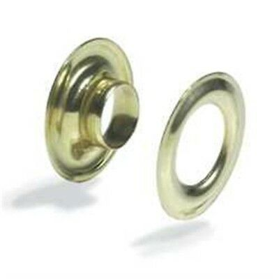 Grommets 3/8in #2 - 38in 2 Brass Plated 10 Pk Fasteners Leathercraft Tandy