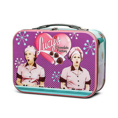 New I LOVE LUCY Lucy's Chocolate Factory Large Metal Tin Lunch Box