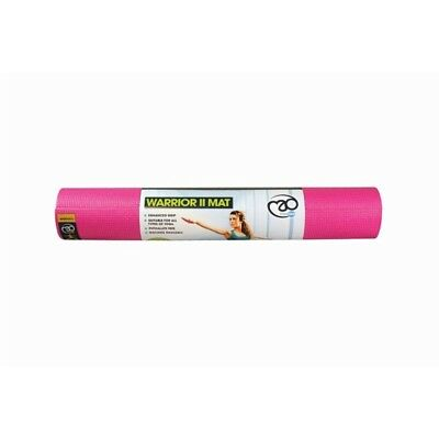 4mm Hot Pink Warrior Yoga Mat - Ii Mad Fitness Yogamad Pilates Training