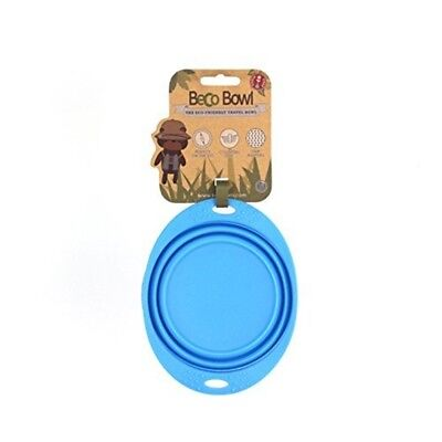 Beco Pets Travel Bowl, Small, Blue - Bowl Friendly 3 Silicone Dog Collapsible