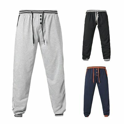 Loose Sports Pants Breathable Sweatpants with Drawstring&Waistband for Men FF