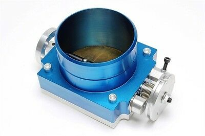 Aluminium Butterfly Valve 3 15/16in Blue with Adapter Board for Screws/Welding