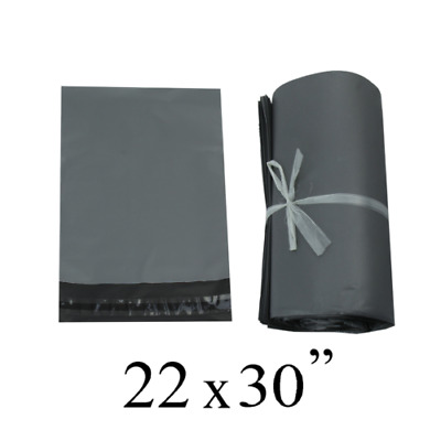 100 x 22x30 INCH STRONG POLY MAILING POSTAGE POSTAL BAGS QUALITY SELF SEAL GREY