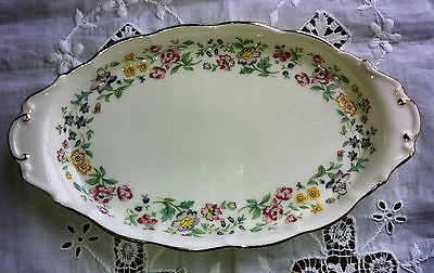 Pretty Royal Kent Staffordshire Bone china sandwich plate