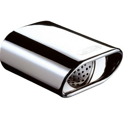 E-tech M Type Oval Stainless Steel Exhaust - Etech Tip Tailpipe Polished