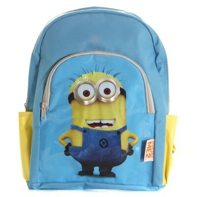 Despicable Me 2 Backpack With Pockets - School Bag Minions Rucksack Kids New