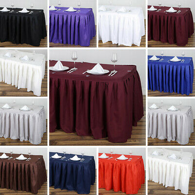 Polyester Banquet TABLE SKIRT Wedding Party Linens Dining Catering Decorations
