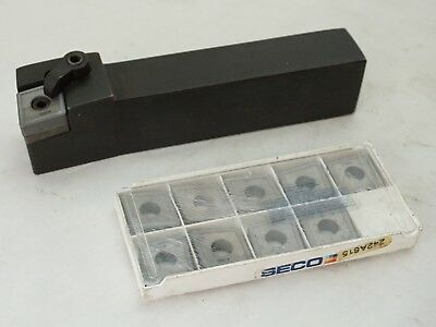 Carboloy Lathe Tool Holder Mclnr-85-6D   With 10 Carbide Inserts - Seco