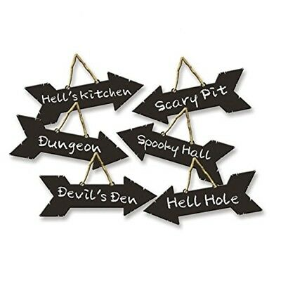 Halloween 6 Direction Signs With Chalk Effects - Amscan 6 Party