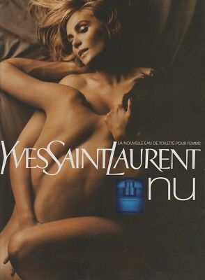 Publicité Papier - Advertising Paper Nu Yves  Saint Laurent