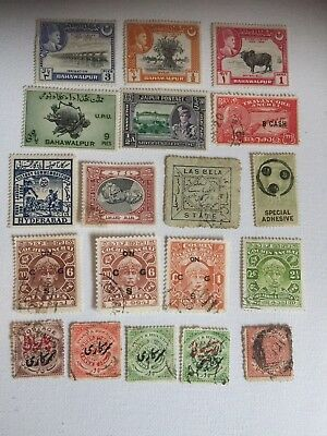 INDIA STATES VARIOUS 19 stamps  (085)