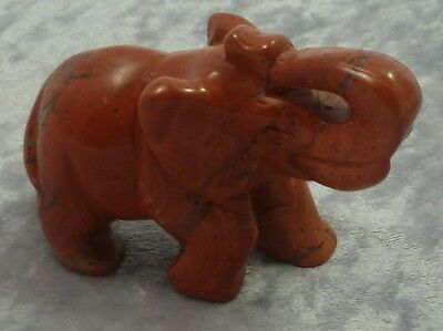 Red Jasper Large Elephant