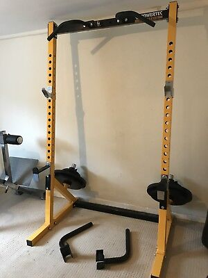 Powertec Workbench Half Rack - Rig - Includes Dip Bars - Power Rack