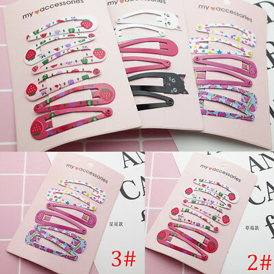 New Boutique Girl Baby Kids Hair Clips Snap Hairpin Grip Candy Color