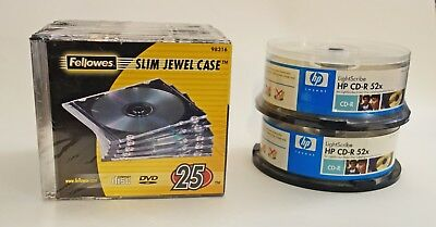 HP LightScribe CD-R plus Jewel Cases