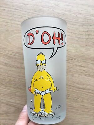 Frosted Simpsons Homer D'oh! glass