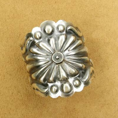 Navajo Tim Yazzie Old Style 925 Sterling Silver Pony Tail Clasp Hair Barrette