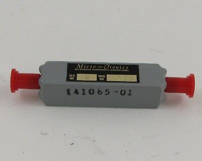 *NOS* Micro-Tronics Band Pass Filter 141065-01 Model#1755 w/ SMA Connectors