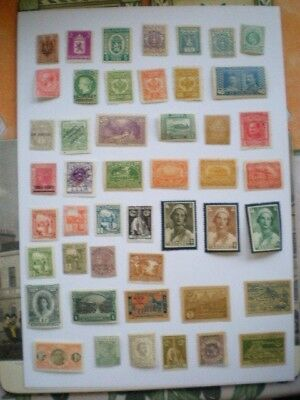Colonial & world unused unchecked spacefiller stamps from old albums no1