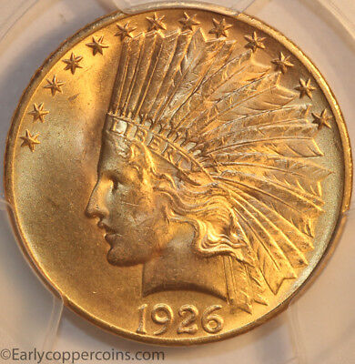 1926 Indian Head Gold $10.00 Eagle PCGS MS64 CAC Choice