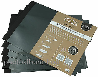 6 x UR1 NCL Jumbo Photo Album Black Refills (30 leaves) 62781 / YR-6005/B