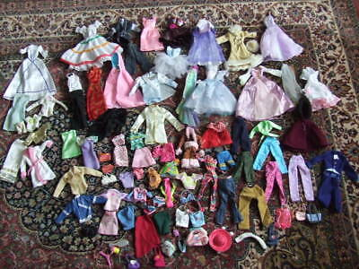 Assortment Of Used  Barbie Clothes