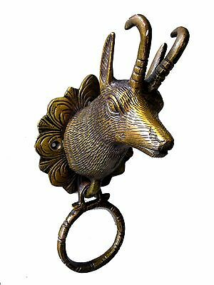 Deer Door Knocker Unique Collectibles Solid Brass Rare Home Decor Animal New