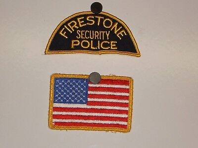 Firestone Security Police And US Flag Patches