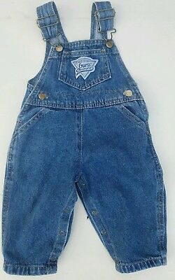 Vintage GUESS Denim Vestback Overalls Infant 12 Months Made in USA Triangle