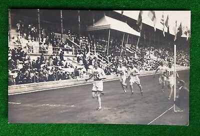 Olympic Games    Runners    Arnold Jackson    1912   Stockholm   Old Postcard