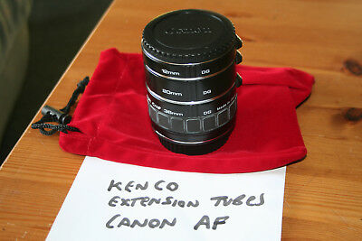 Kenco Macro Extension Tube Ring Auto Focus AF for Canon EOS Cameras