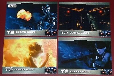 Terminator 2 - Rare (200) Set of 4 Preview Cards by Unstoppable Cards #125/200