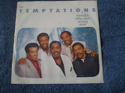 """The Temptations - I Wonder Who She's Seeing Now - Near Mint 1987 Motown 12"""""""