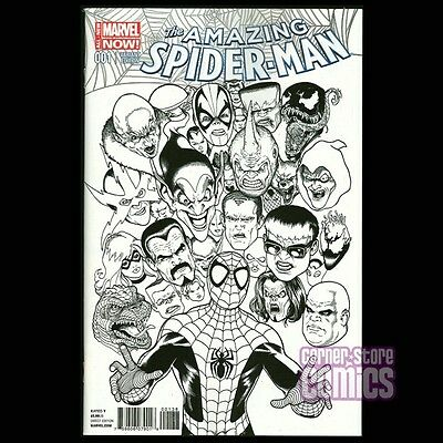 Amazing Spider-Man #1 vol 3 KEVIN MAGUIRE Rare B&W Variant MARVEL Comics VF/NM!