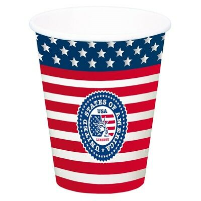 Usa Party Cup XL 8's - Cups America 8 American Tableware Decoration Set