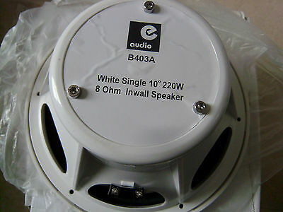 "220W 10"" WATERPROOF CEILING OR WALL SPEAKER. E-audio B403A"