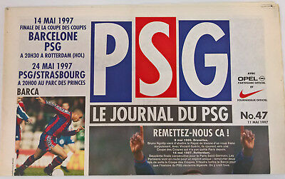 1997 Barcelona v Paris St Germain - PSG edition. ECWC Final.