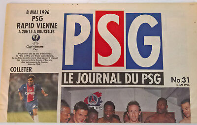 1996 Paris St Germain v Rapid Vienna - PSG edition. ECWC Final.