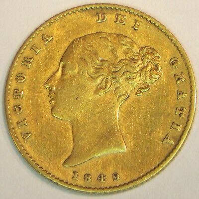 1849 Great Britain Gold 1/2 Sovereign     #108s49GBGS