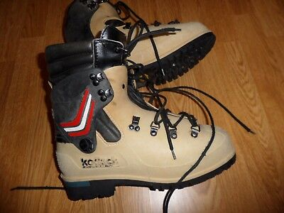 Vintage Koflach Plastic Mountaineering Boots Wool Lining Men's 8