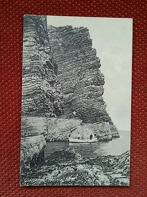 Climbers at The Sound cliffs Sugar Loaf rock Port St Mary Erin Prideaux IOM Manx