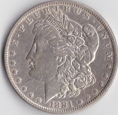 1881 'Morgan' Dollar - USA Philadelphia Mint - 0.900 Silver