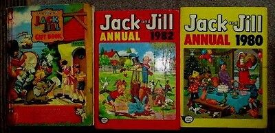 Job Lot Of 10 1950's - 1980's Jack Jill Playhour Comics Annuals And Gift Book