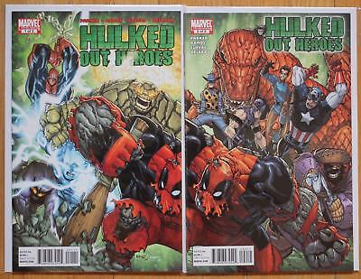 Hulked Out Heroes Limited Series 1 - 2 Connecting Covers Lot Marvel 2010 NM