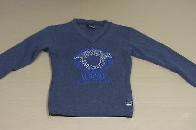 VERSACE JEANS BOYS CHILDREN KIDS YOUNG PULLOVER SWEATER SWEATSHIRT 8/S/Small