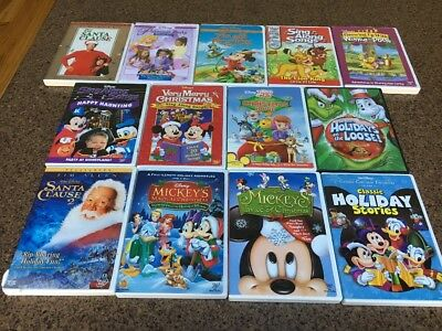 Disney Dvd Lot Of 12 Disney Dvd's 13 In All-Mickeys Magical Christmas + Holiday
