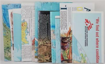 Lot of 13 Maps National Geographic Doctors Without Borders Indonesia World Afric