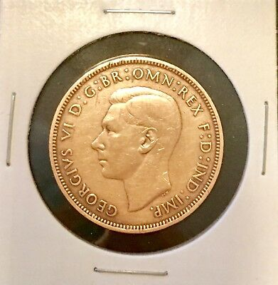 1937 GREAT BRITAIN 1 PENNY Copper Coin • GEORGE VI  Circulated